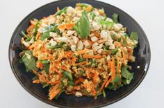 Quinoa, carrot and spinach salad