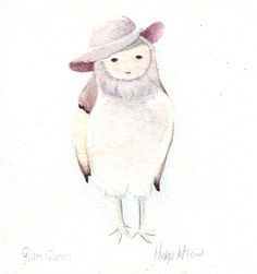 My friends Glam Queen Original painting watercolor art by HelgaMcL, $20.00