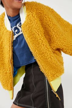 BDG Farah Reversible Fuzzy Bomber Jacket | Urban Outfitters