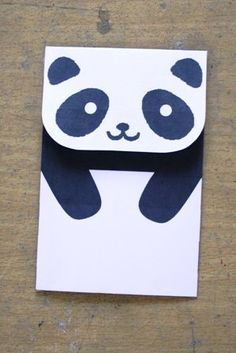 panda envelope printable