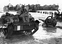 Allied Forces come ashore during the invasion of Sicily July 1943.