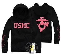 I have one of my favorite hoodies from here! Semper Sweet - USMC Semper Fi Hooded Sweatshirt, $38.99 (http://sempersweet.com/usmc-semper-fi-hooded-sweatshirt/)