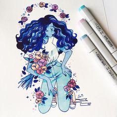 "17 mil curtidas, 83 comentários - @sibylline_m no Instagram: ""Something blue """