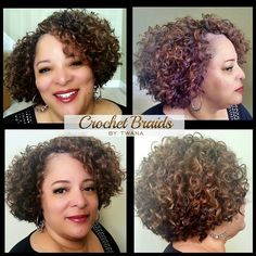 Crochet Braids with Freetress Gogo Curl in colors TT27 & 4/30…