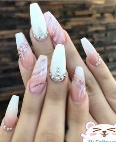 nails - 24 Chic marble nail art design ideas marble nails, chic nail art designs, mix and matched nail inspiration, nails nails nail nailart naildesign Chic Nail Art, Chic Nails, Stylish Nails, Fancy Nails, Pink Nails, Gel Nails, Manicure, Coffin Nails, Nail Nail