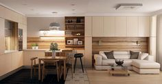 студия, современный стиль, пол, зонирование, барная стойка, 10-12 кв м, фартук