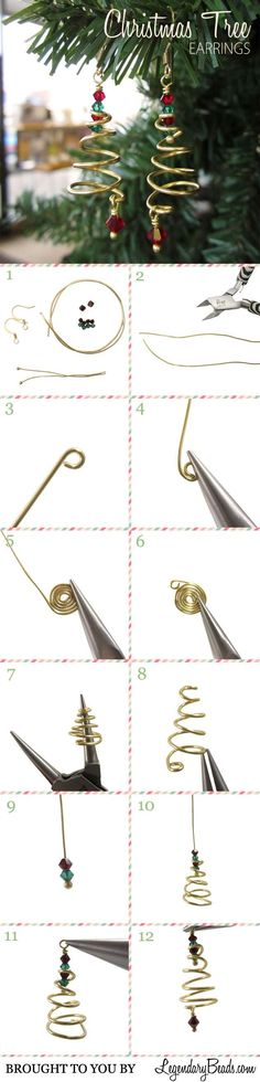 Happened to see this pretty creative earrings! Share them here with you guys~ Prepare the below jewelry making supplies: Earring hooks Bicone glass beads Wire Headpin Pliers Steps: Cut two pieces o...