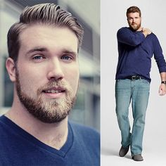 zach-plus-size-male-model-2015.jpg : They don't get the same attention as their curvy female counterparts (yet), but plus-size models Zach Miko, Kelvin Davis, and Dexter Mayfield are turning heads in the lagging men's industry. Read On....