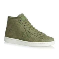 Converse Shoes - Converse Pl 76 Mid Shoes - Fatigue Green Egret d94b85309