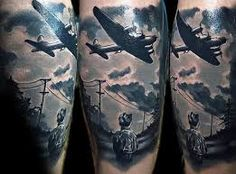 Image result for contrast airplane tattoo