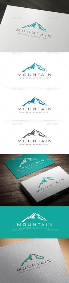 Mountain Logo Design Template Vector #logotype Download it here: http://graphicriver.net/item/mountain-logo/10521578?s_rank=1365?ref=nexion
