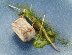 Gebakken hondshaai met peterselie. Prachtig receptje van chef Filip Claeys** (De Jonkman, Brugge). Makkelijk, mooi en superlekker. recept http://www.detafelvantine.be/bericht/vis-gebakken-hondshaai-met-peterselie-filip-claeys