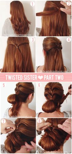 Perfect Red Hair Color. Chignon with an extra twist.
