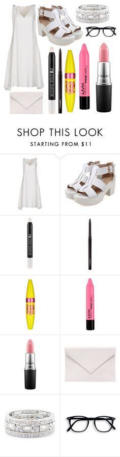 """You Meet His Extended Family: Suho"" by scarletpeak ❤ liked on Polyvore featuring CÉLINE, Forever 21, MAC Cosmetics, Maybelline, Verali and Sole Society"