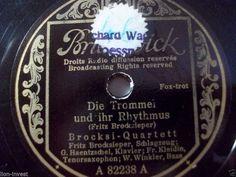 """First and Big Auction 78rpm in 2017 Come in & find out :-)     !!! Startprice only 1,99 Euro !!! Worldwide shipping !!!     BROCKSI-QUARTETT """"Die Trommel und ihr Rhythmus"""" Brunswick 1. Brocksi-Platte 1942"""