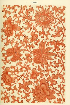heaveninawildflower: Examples of Chinese ornament (1867) by Owen Jones (1809–1874). 'From a painted china vase. A composition on the continuous-stem principle' Internet Archive via Wikimedia