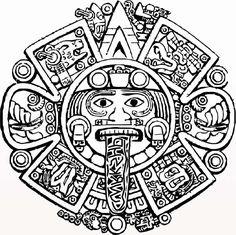 Aztec Calendar Stone Coloring Pages                                                                                                                                                                                 More