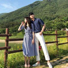 Korean Wedding Photography, Couple Photography Poses, Mode Ulzzang, Ulzzang Girl, Matching Couple Outfits, Matching Couples, Couple Aesthetic, Korean Aesthetic, Korean Couple