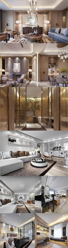 a347 现代新中式别墅样板房实景图 室内设计软装设计参考资料46套-淘宝网全球站
