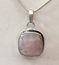 AWESOME COOL NATURAL ROSE QUARTZ FASHION JEWELRY 925 SILVER OVERLAY PENDANT #925silvercastle #Pendant