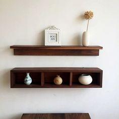 实木书架墙上置物架壁柜客厅厨房卧室收纳储藏摆设展柜复古宜家挂