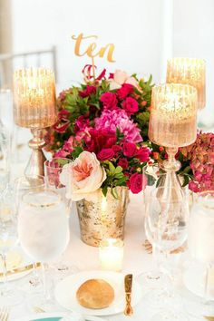 wedding centerpiece table; photo: K. Thompson Photography