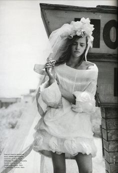 FASHION SPREADS: Sasha Pivovarova by Peter Lindbergh for Just Married, Numéro #67