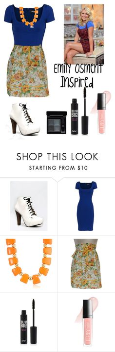 """""""Emily Osment Young and Hungry inspired outfit"""" by amayaalyssa ❤ liked on Polyvore featuring Qupid, Dsquared2, Kenneth Jay Lane, Off-White, Butter London and Givenchy"""