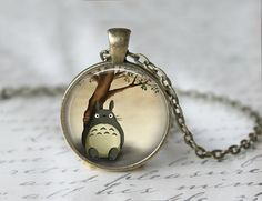 My Neighbor Totoro Necklace Totoro Pendant by MsGolightlyDesigns, $12.95