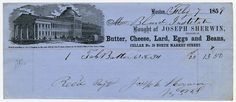 Invoice from Joseph Sherwin Grocer of Boston, Massachusetts to Perkins Institution.  Invoice for batter from 1859. Visit the Perkins Archives Flicker page: http://www.flickr.com/photos/perkinsarchive/collections/