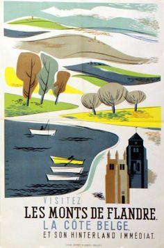 Visitez La Cote Belge, Les Monts de Flandre et Son Hinterland Immediat by Setola, c1950s. (Belgium)