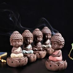Backflow Incense Buddha Statue Burner Incensory by FancyGarden