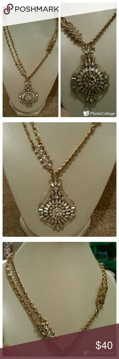 ERICKSON BEAMON ROCKS New. Was a gift. Never got around to using. Gold tone chain. Jewelry Necklaces