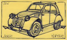 cool drawing 2cv - Google-søk