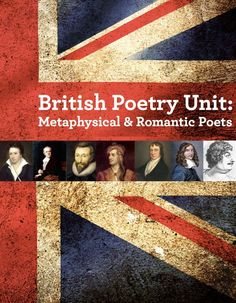 This British poetry unit covers the best metaphysical and Romantic poets while addressing all the Common Core State Standards. This mostly student-directed unit has students researching, analyzing, presenting and writing about these sometimes bawdy poems! Includes test, rubrics, teacher notes and teacher keys. $