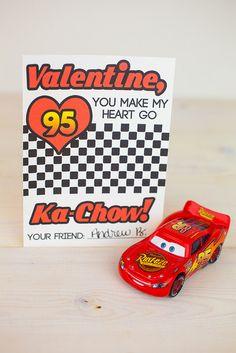 Lightning McQueen Valentines Day Cards