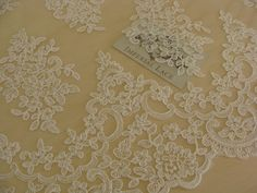 Ivory lace fabric, Embroidered lace, French Lace, Wedding Lace, Bridal lace, White Lace, Veil lace, Lingerie Lace, BK61575CB_1 by ImperialLace on Etsy https://www.etsy.com/nz/listing/246787665/ivory-lace-fabric-embroidered-lace