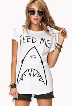 Hungry Shark Graphic Tee | FOREVER21 - 2040496762