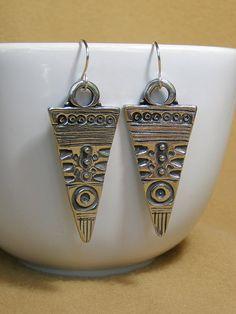 Silver Pewter Earrings  Native Earrings  by StoneWearDesigns, $26.00