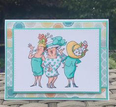 Art Impressions Rubber Stamps: Dare to be Fabulous clear stamp set available at Hobby Lobby. Handmade card. girlfriends,