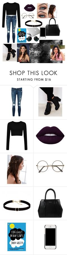 """Untitled #30"" by destineeochoa on Polyvore featuring rag & bone/JEAN, Wet Seal, Lime Crime, REGALROSE, Astrid & Miyu, Bragi, Kylie Cosmetics, Rachel and GALA"