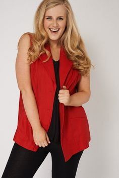 Sleeveless Waistcoat With Buttons Ex-Branded