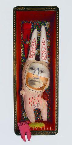 Cecile Perra shadowbox art doll