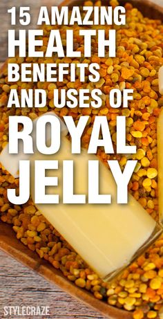 15 Amazing Health Benefits And Uses Of Royal Jelly. I've seen royal jelly products here in Japan. Lemon Benefits, Coconut Health Benefits, Health And Wellness, Health Tips, Kids Health, Tomato Nutrition, Stop Eating, Natural Cures, Natural Foods