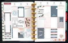 I love my Happy Planner! Seriously, since I switched over from my bullet journal, I've been so pleased with this planner system. I love the flexibility, and how fun they are to decorate! Enjoy this gallery of my past Happy Planner layouts! Planner Layout, Planner Pages, Weekly Planner, Planner Stickers, Planner Ideas, Work Planner, Planner Sheets, Digital Bullet Journal, Mini Happy Planner