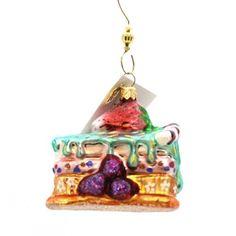 Christopher Radko Berry (Pink) Shortcake Glass Christmas Holiday