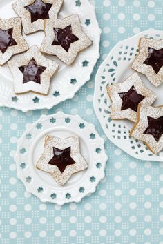 Old fashion holiday star cookies. Can't wait to use my homemade jam!