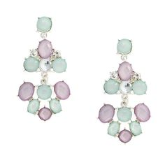 Lavender and Mint Opal Crystal Drop Earrings: I super love these!