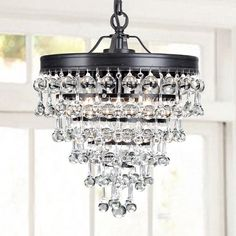 Claudia Crystal Glass Drop Chandelier in Antique Black Finish (Crystal Glass Drop Chandelier, Antique Bronze), The Lighting Store Ceiling Chandelier, Ceiling Lights, Chandelier Ideas, Bronze Chandelier, Room Lights, Ceiling Fans, Lantern Pendant, Crystal Pendant