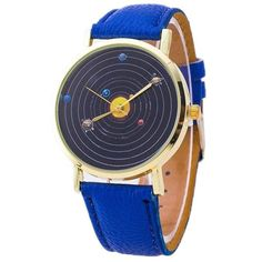 Show off how much you love astronomy with this awesome solar system watch! Features: Precise movement. Solid stainless steel back cover. Vegan leather wrist band for comfortable wearing. Water resista